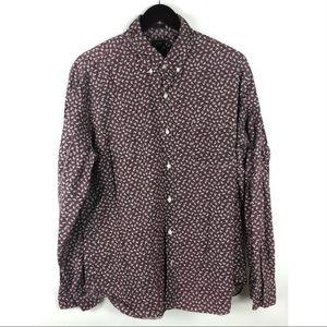 J. Crew Shirts - J crew men's slim fit button down shirt floral XL